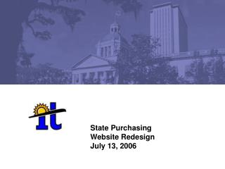 State Purchasing  Website Redesign July 13, 2006