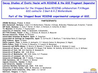 Decay Studies of Exotic Nuclei with RISING & the GSI Fragment Separator