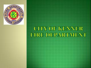 City of Kenner fire department