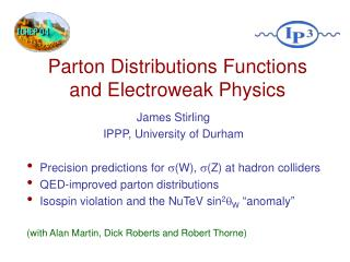 Parton Distributions Functions and Electroweak Physics