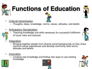 Functions of Education