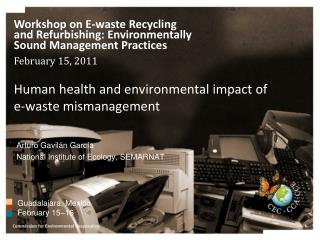 Human health and environmental impact of  e-waste mismanagement