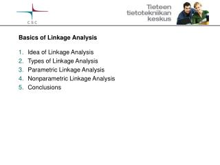 Basics of Linkage Analysis