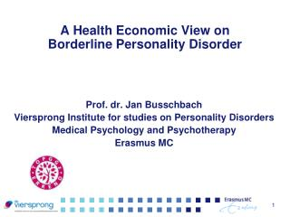 A Health Economic View on  Borderline Personality Disorder