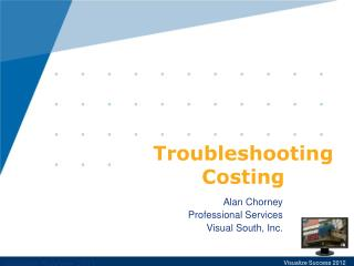 Troubleshooting Costing