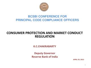 BCSBI CONFERENCE FOR  PRINCIPAL CODE COMPLIANCE OFFICERS