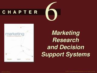 Marketing Research and Decision Support Systems
