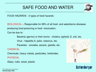 SAFE FOOD AND WATER