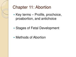 Chapter 11: Abortion