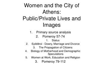 Women and the City of Athens: Public