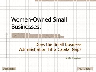 Women-Owned Small Businesses: