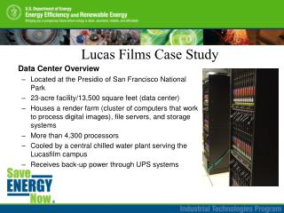 Data Center Overview Located at the Presidio of San Francisco National Park