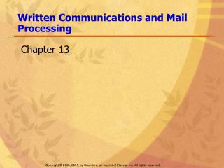 Written Communications and Mail Processing