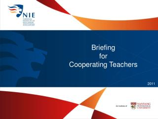 Briefing  for  Cooperating Teachers