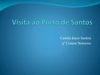 Visita ao Porto de Santos