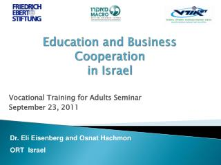 Education and Business Cooperation  in Israel
