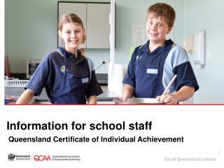 Information for school staff