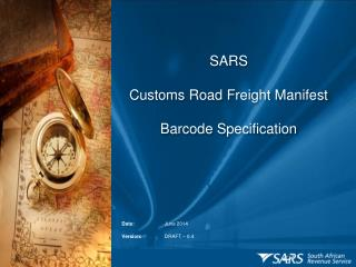 SARS  Customs Road Freight Manifest Barcode Specification