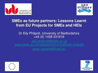 SMEs as future partners: Lessons Learnt from EU Projects for SMEs and HEIs