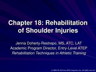 Chapter 18: Rehabilitation of Shoulder Injuries