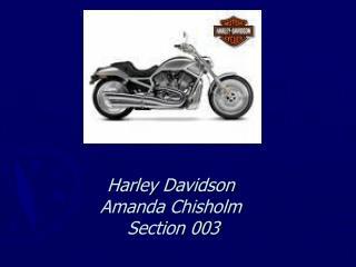Harley Davidson Amanda Chisholm  Section 003
