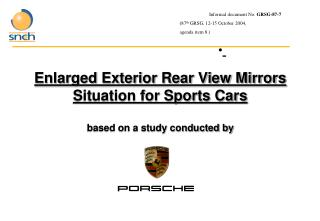 Enlarged Exterior Rear View Mirrors Situation for Sports Cars based on a study conducted by