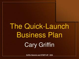 The Quick-Launch Business Plan