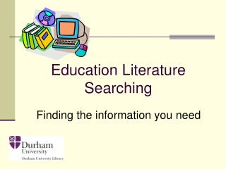 Education Literature Searching