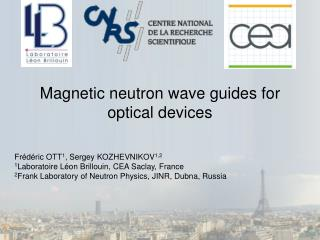 Magnetic neutron wave guides for optical devices