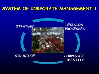 SYSTEM OF CORPORATE MANAGEMENT 1