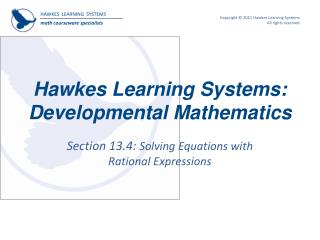 Ppt hawkes learning systems developmental mathematics powerpoint download section fandeluxe Choice Image