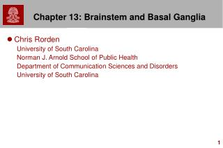 Chapter 13: Brainstem and Basal Ganglia