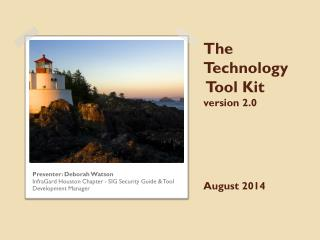 The Technology  Tool Kit version 2.0 August 2014