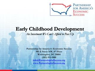 Early Childhood Development An Investment We Can't Afford to Pass Up