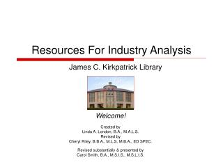 Resources For Industry Analysis