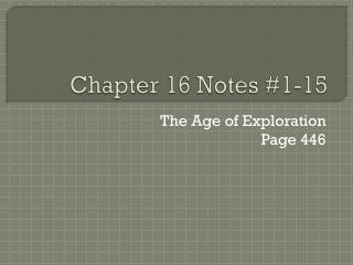 Chapter  16  Notes #1-15