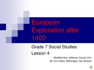 European Exploration after 1400