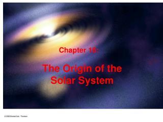 The Origin of the Solar System