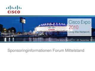 Sponsoringinformationen Forum  Mittelstand
