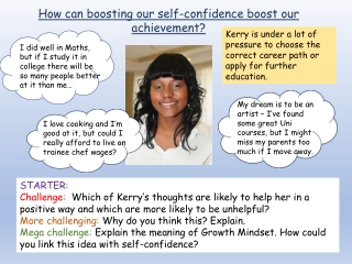 How can boosting our self-confidence boost our achievement?