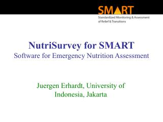 NutriSurvey for SMART Software  for Emergency Nutrition Assessment