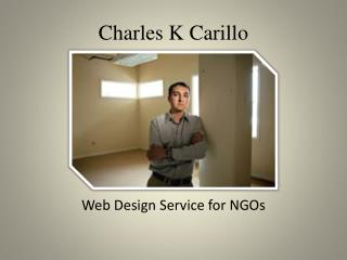 Charles K Carillo Web Design Service for NGOs