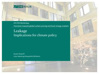 Leakage  Implications for climate policy