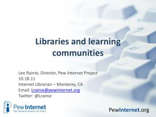 Libraries and learning communities