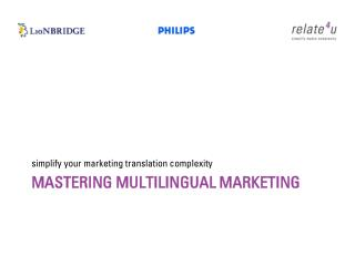 Mastering Multilingual Marketing