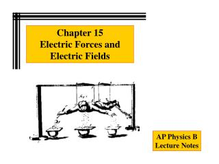 Chapter 15 Electric Forces and Electric Fields