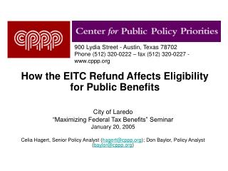 How the EITC Refund Affects Eligibility for Public Benefits
