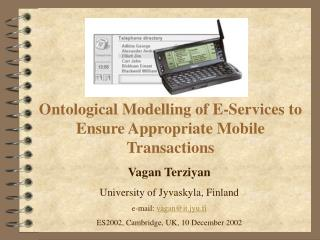 Ontological Modelling of E-Services to Ensure Appropriate Mobile Transactions