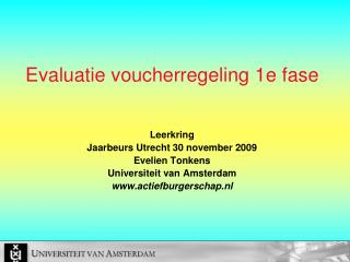 Evaluatie voucherregeling 1e fase