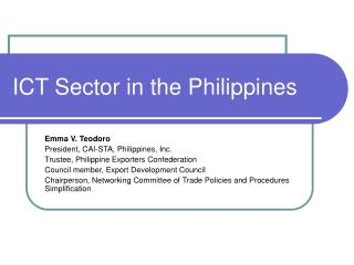 ICT Sector in the Philippines